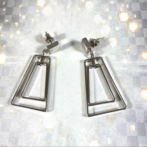 Vintage Avon pop art geometric dangle earrings